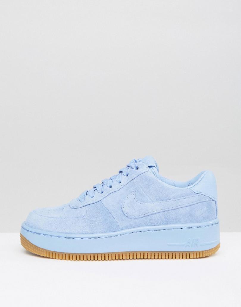 air force 1 bleu femme,Nike Air Force 1'07 blanche bleue or femme ...